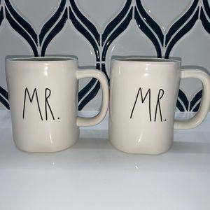 Rae Dunn MR. & MR. Coffee Mug Set